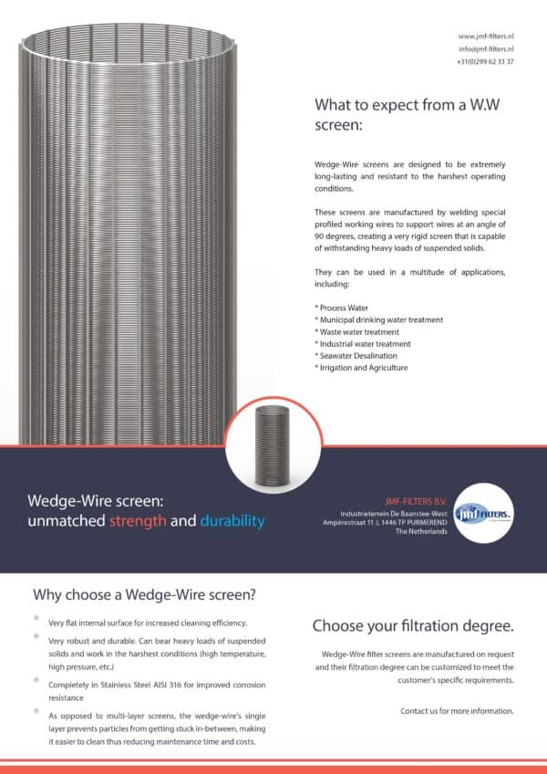 Wedge wire screen datasheet