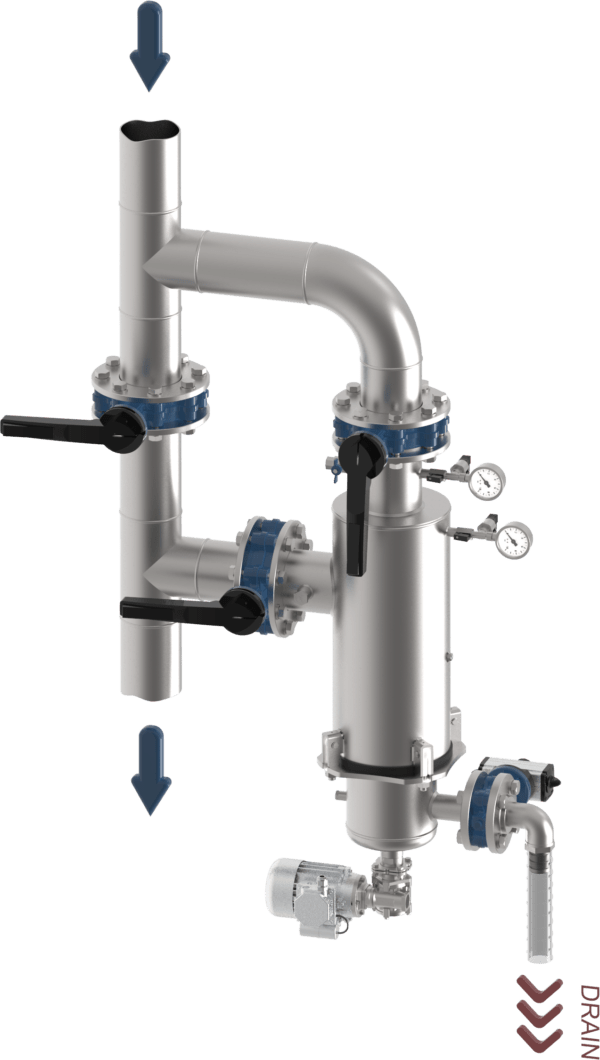 INSTALLAZIONE TIPICA WONDERBRUSH L VERT 3D ANONIMO 2 600x1060 - Turbonet | Zelfreinigend Filter | Brush Technology
