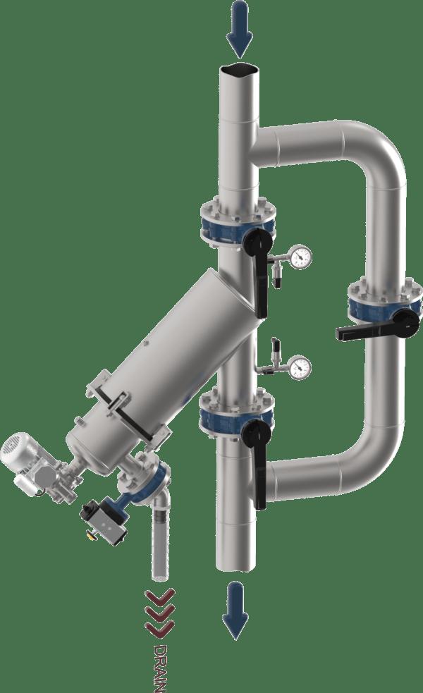 INSTALLAZIONE TIPICA WONDERBRUSH Y VERT 3D ANONIMO 3 600x983 - Turbonet | Zelfreinigend Filter | Brush Technology