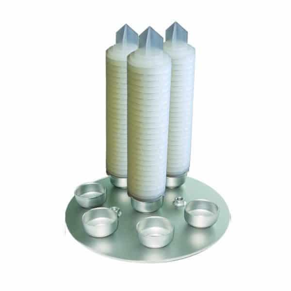Multi cartridge filter stack